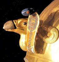 uraeus - Masque funéraire de Toutankhamon - Musée du Caire -