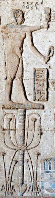 Détail de la salle hypostyle du temple de la netjeret Hathor  à Nitentore (Dendérah).
