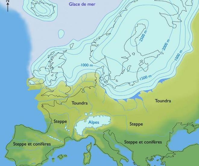 Europe glaciation