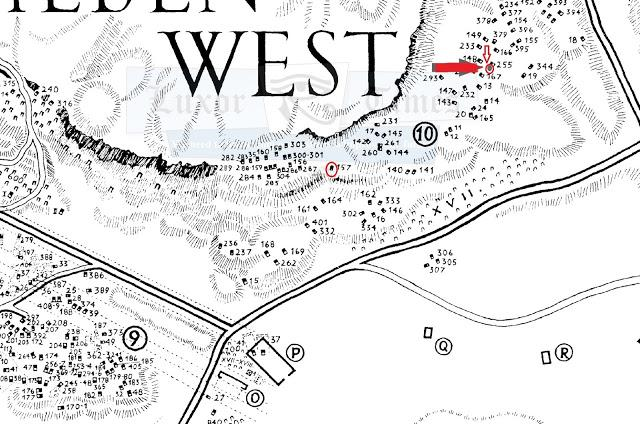 Map showing the two tombs