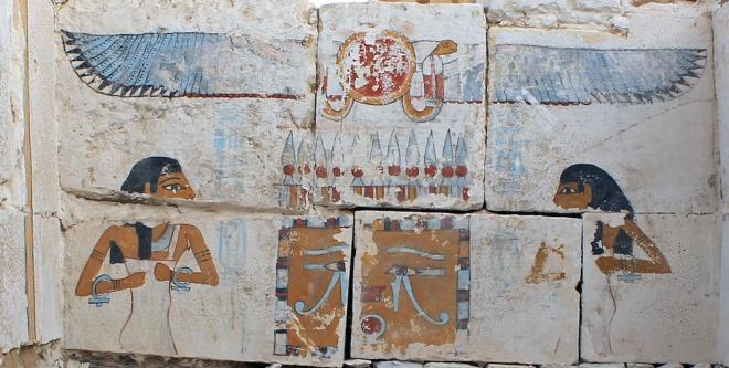 Neith-Nut et le pharaon Saneb-Kay à Sohag