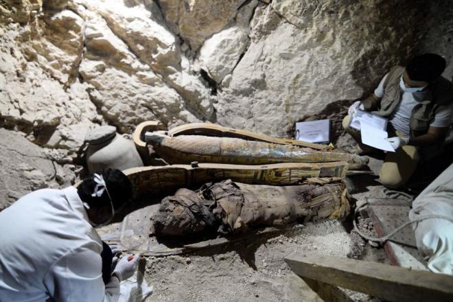 """L'une des 8 momies découvertes à ce jour dans ce """"complexe""""."""