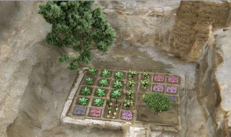 Reconstitution virtuelle du jardin funéraire d'Abou el Naga Draa, près de Louxor
