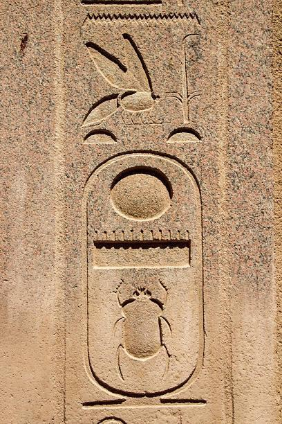 Royal cartouche of Thutmose III (Menkheperra) at Karnak.