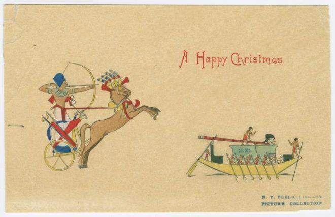 Carte postale de noel en egypte c 1902 1930