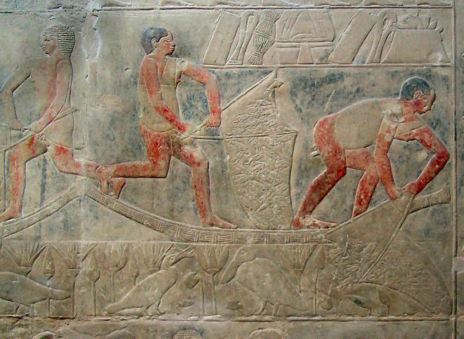 Fishermen in mereruka s tomb kairoinfo4u