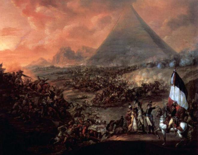 La bataille des pyramides francois louis joseph watteau 1798 1799