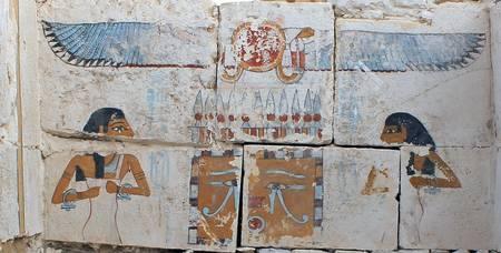 Les deesses neith et nout protegent l une des urnes funeraires du pharaon senebkay jennifer wegner penn museum