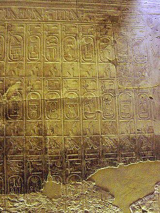 Liste des pharaons a abydos