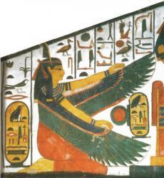 Maat with nefertari cartouche ancient egypt history
