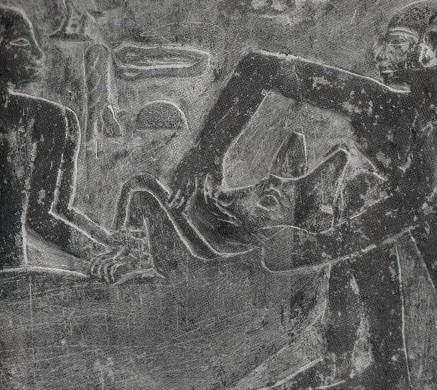 Mastaba d idout et de mera a saqqarah gavages de hyenes