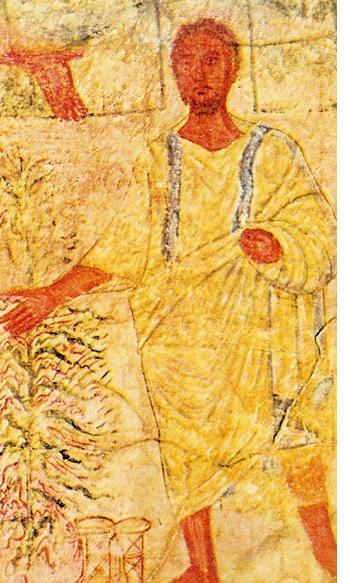 Moise et le buisson ardent l une des plus anciennes representation connues de l episode dans la synagogue de doura europos