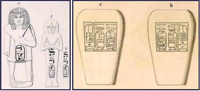Oushebtis vases canopes karomama achetes par lepsius