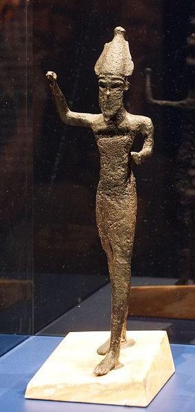 Phoenician statuette probably depicting reshef