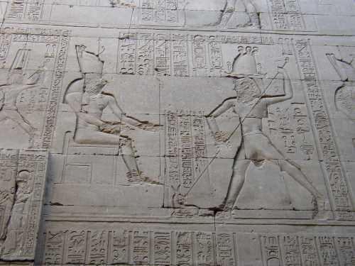 Sacrifice d une gazelle sethien et ce devant horus