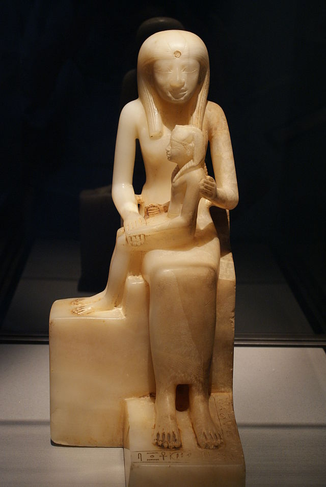 Wla brooklynmuseum statuette of queen ankhnes meryre ii and pepy ii