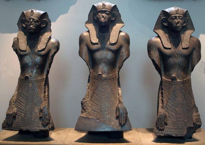 Statues from Deir el-Bahari