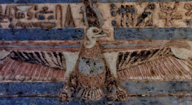 Au sein du plafond du temple Double d'Haroeris, Horus l'ancien et Sobek...