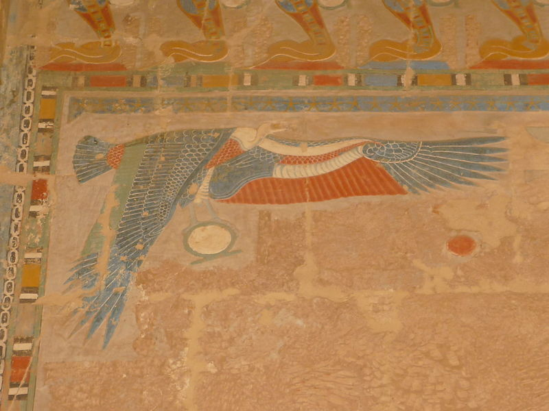 Nekhbet [the white vulture] , temple of Hatshepsut, Deir el-Bahri, Thebes.