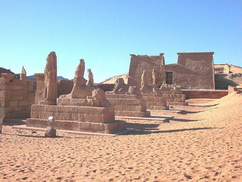 Vue du temple de Ramsès II à Ouasi-es-Seboua !