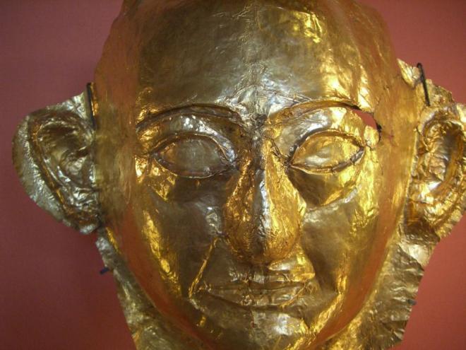 Masque mortuaire d'or de Khâemouaset.