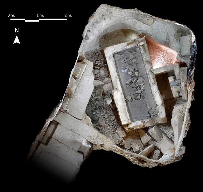 Aspecto de la cámara funeraria de Ipi