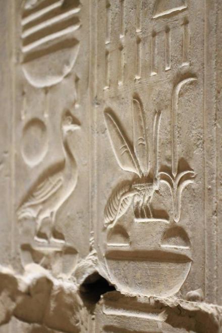 beautiful carvings at Abydos.Temple of Seti I. Sohag.