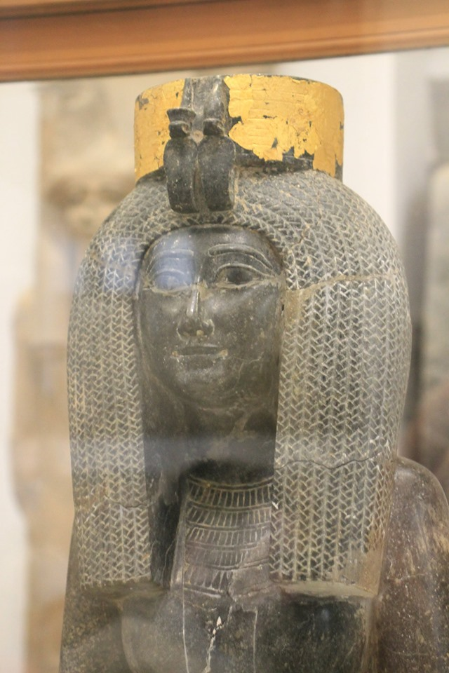 Black granite statue from Karnak. Mother of Tutmosis III. Egyptian museum,Cairo