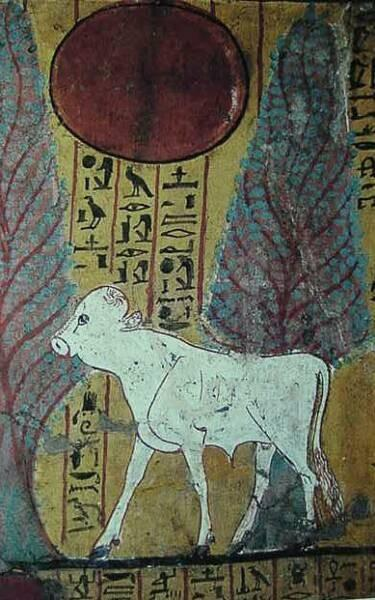 Une peinture murale d'époque Ramesside...
