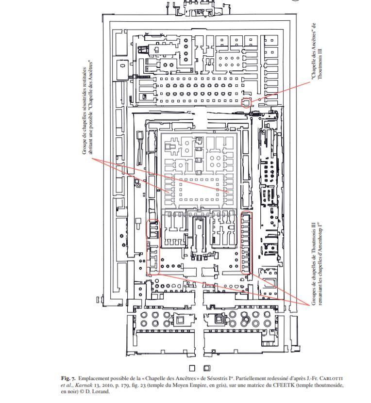 Emplacement possible de la «Chapelle des Ancêtres» de Sésostris I er.