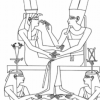 Amenhotep III on bed.