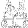 Amenhotep III on bed.