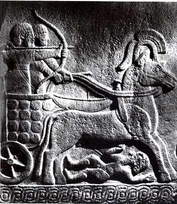 Char Hittite du 9e siecle