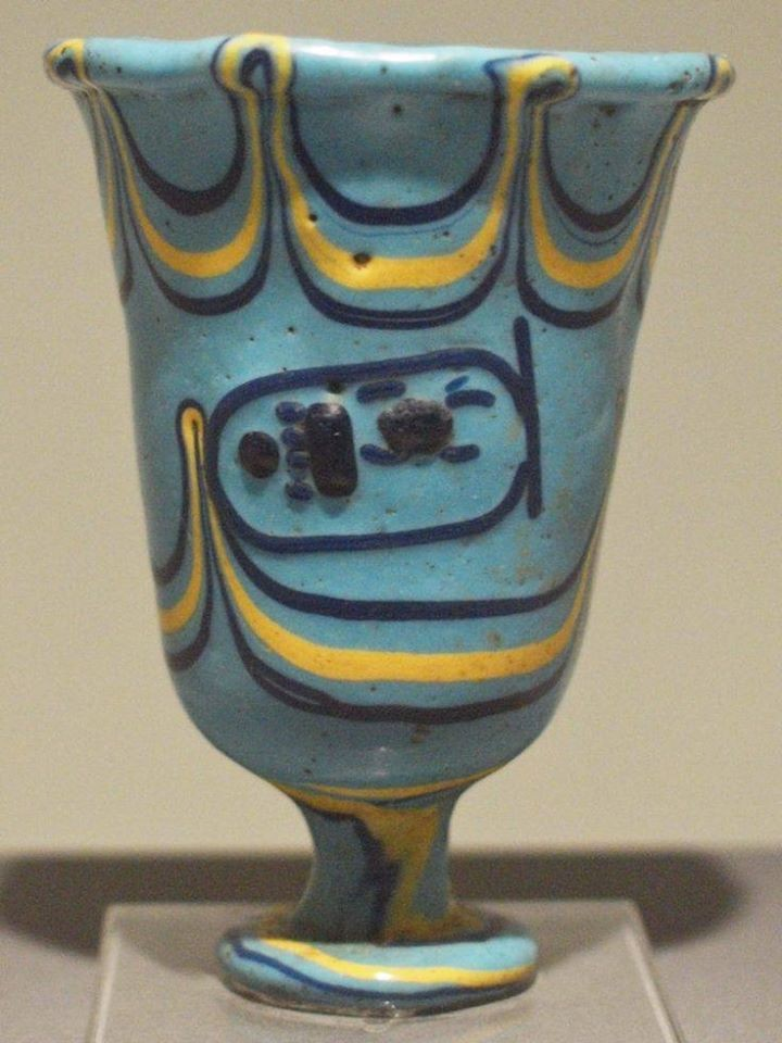 Glass cup with the inscription of thutmose iii source state museum of egyptian art munich