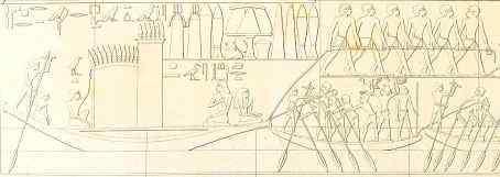 pulling boat lepsius Saqqara
