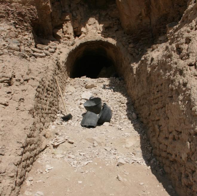 Rampa hacia la cámara funeraria