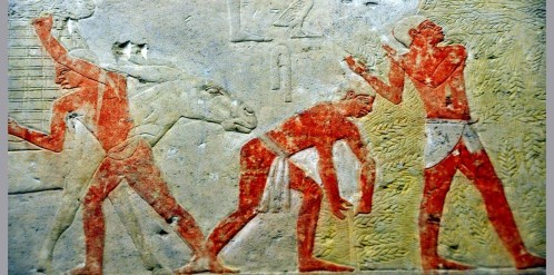 Scene from the mastaba of Akhethetep.