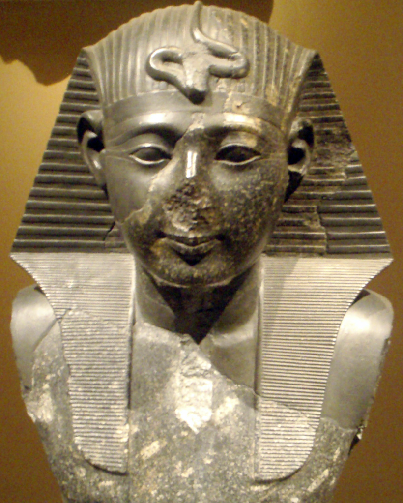 Statue du pharaon Seti I...