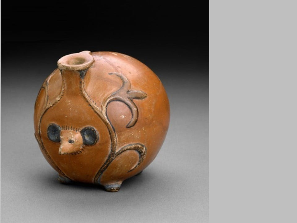 Small vessel in the form of a hedgehog from tomb d11 at abydos