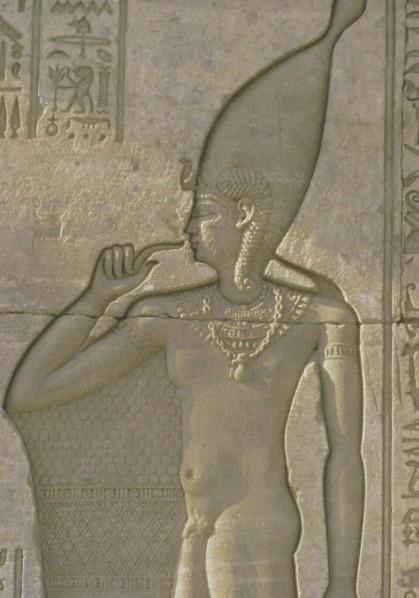 Temple de Hathor à Denderah _ Bas relief _  Ihy