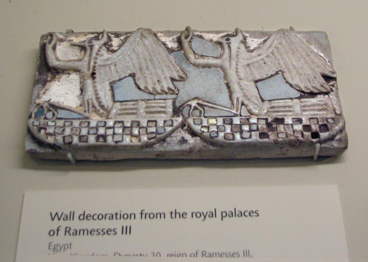 Peinture murale de la royal Palais de RAMSÈS, Egypte, Nouvel Empire, 20e dynastie.