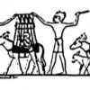 Transport des récoltes, tombe de Khounès à Zawiet el Meitin