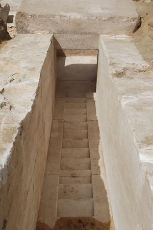 Un corridor permettant d'entrée dans la pyramide...