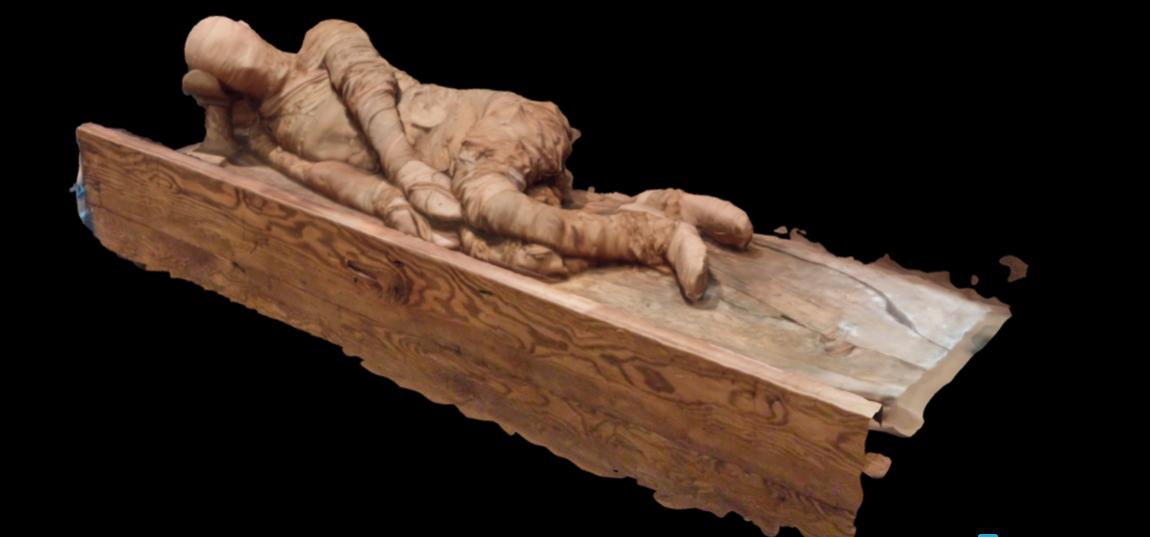 Momie de la 6e dynastie du site d'Abydos au musée Michael C. Carlos, Université Emory.