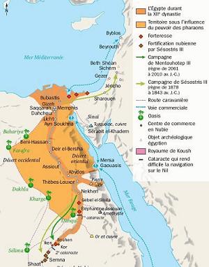 Carte egypte moyen empire