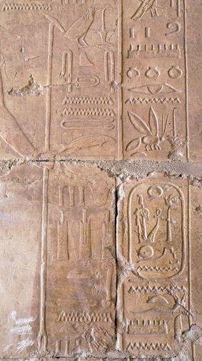 Cartouche de usermaatra setepenre ramses ii dans un relief deir el bahari