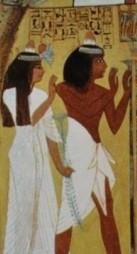 Caveau de la tombe de sennedjem paroi ouest
