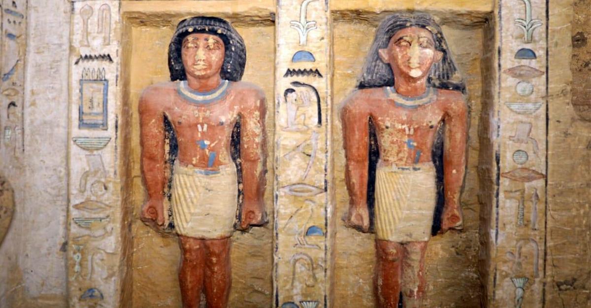 Des dizaines de statues ponctuent les parois des deux etages du tombeau photo ministere des antiquites egyptiennes facebook 3481cc3458e53343f2ee24c643c60a36ddf2979f
