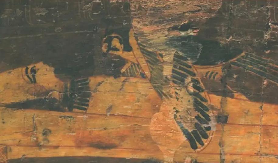 Detail du cercueil itneferamon 21e dynastie musee d aquitaine photo de l gauthier