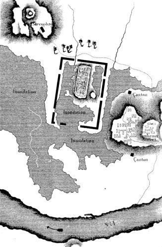 Jean francois champollion plan des ruines de sais cropped